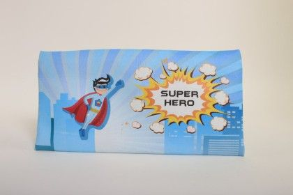Super Hero Theme Zippy Pouch - Baby Oodles