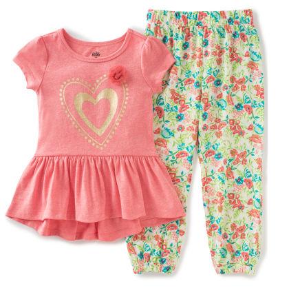 Heart Printed Top & Pants Set - Kids Headquarters