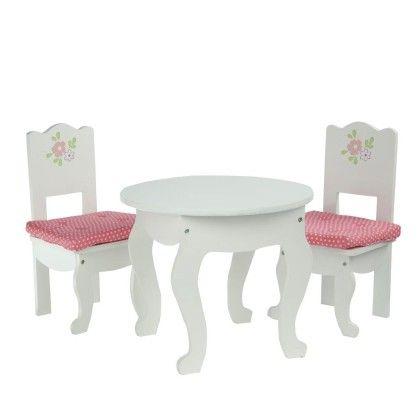 Little Princess Doll Furniture-table & 2 Chairs Set - Teamson Kids