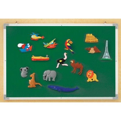 3-in-1 Flannel, Magnetic, Wipe-off Board - Educational Insights