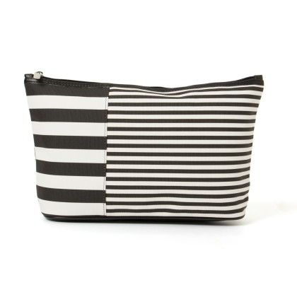Cute Large Black And White Stripe Pouch - Veribest
