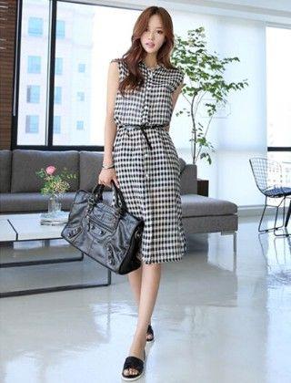 Black And White Shirt Dress - Drape In Vogue