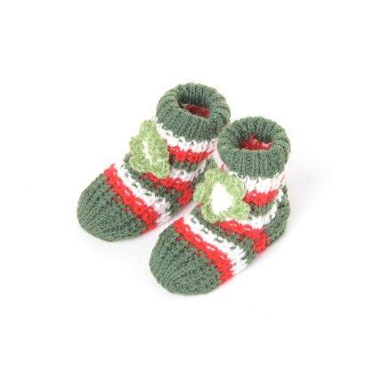 Woolen Booties Dk. Green - Janya - 232866