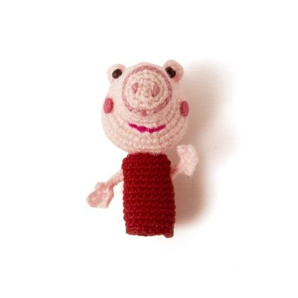 Light Pink Peppa Pig Finger Puppet - Granny's Love