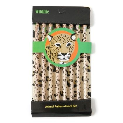 Animal Print Pencils (set Of 8) - Cheetah - It's All About Me