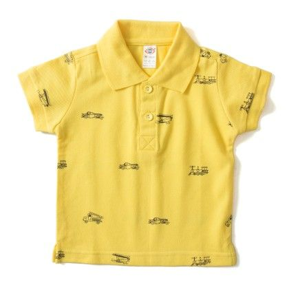 Yellow Collar  T-shirt With Print - ZERO