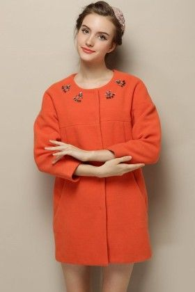 Orange Full Sleeves Top - Drape In Vogue