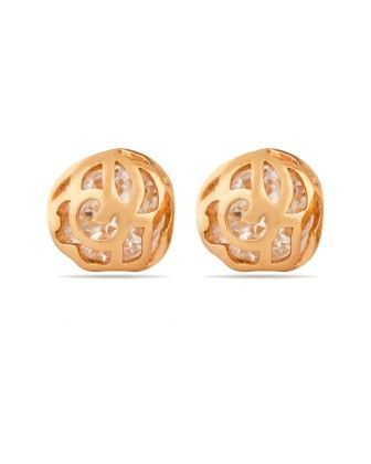 Voylla Vivacious Gold Tone Studs With Crystal