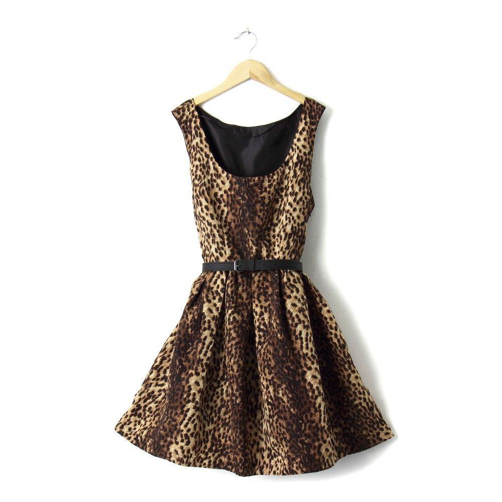 Tiger Print Dress - STUPA FASHION