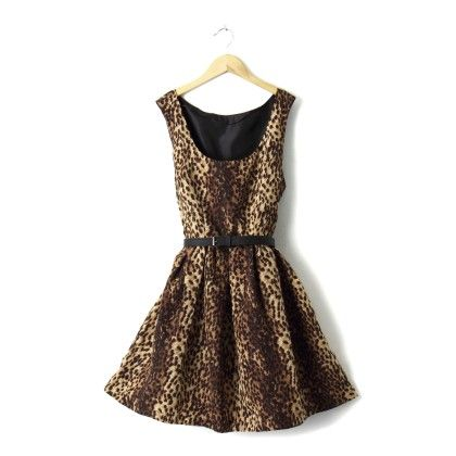 Tiger Print Dress - STUPA FASHION