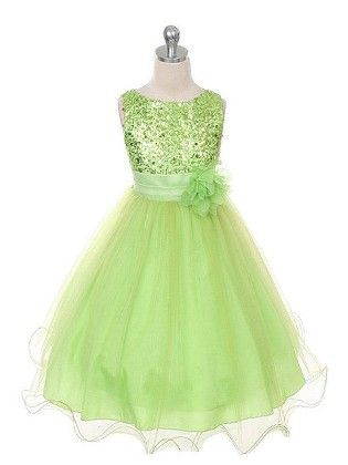 Peach Giirl  Princess Mint Green  Luxury  Dress - Green