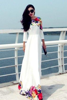 Elegent Floral  Maxi Dress - The Dressing Loft