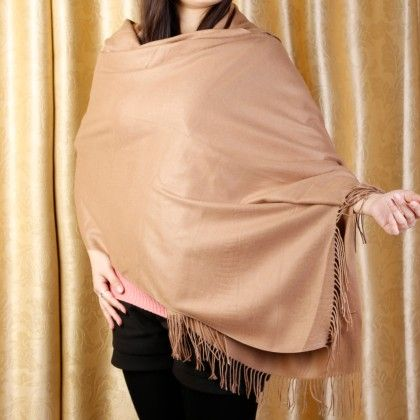 Solid Brown Scarf - Glaze