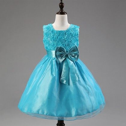 Princess Flower Tutu Dress Blue - Angel Closet