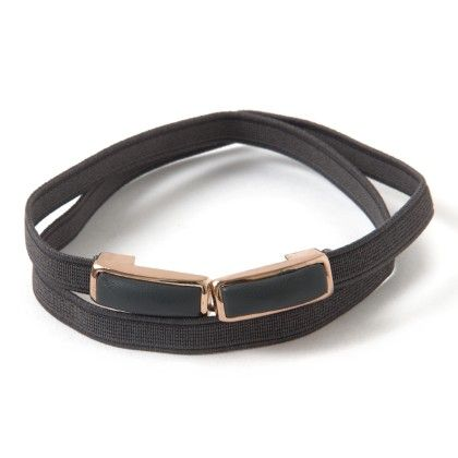 Metal Belt Black Grey - Ribbon