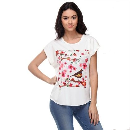 White Single Bird Top - Varanga