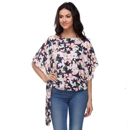Multi-colour Side Knot Top - Varanga