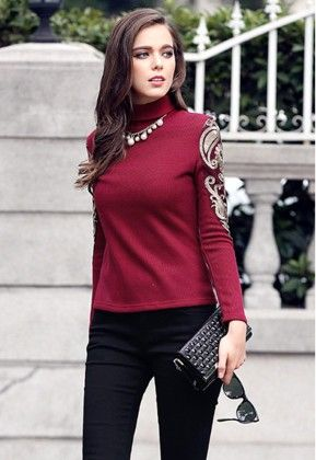 Maroon Sweat T Shirt - STUPA FASHION