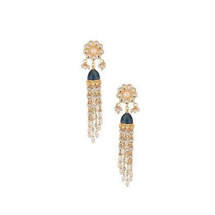 Voylla Adorable Jhumki Pair In Gold Tone