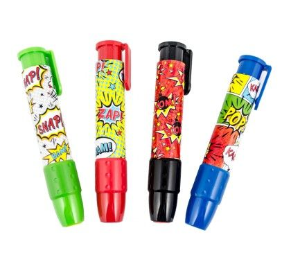 Comic Attack Clickit Erasers(assorted) - International Arrival