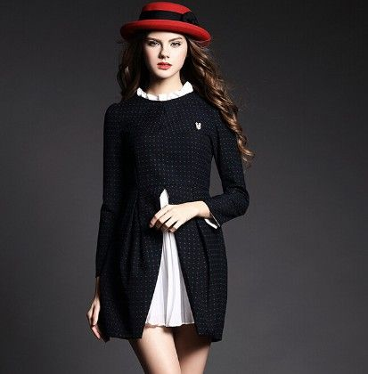 Polka Dot Print Dress - Drape In Vogue