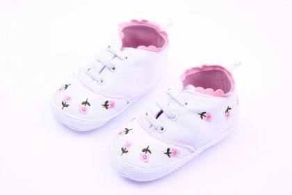 Cloth Material Elastic Laces Baby Girl Shoes - ALLE ALLE