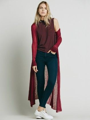 Wine Red Loose Cape - Oomph