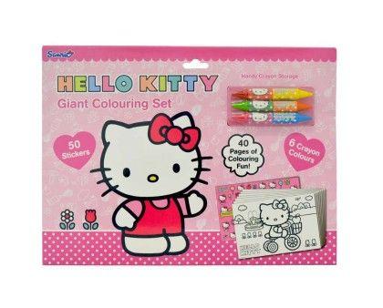 Giant Colouring Set - Hello Kitty