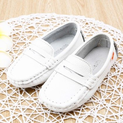 Smart Loafers- White - Smart Shoes