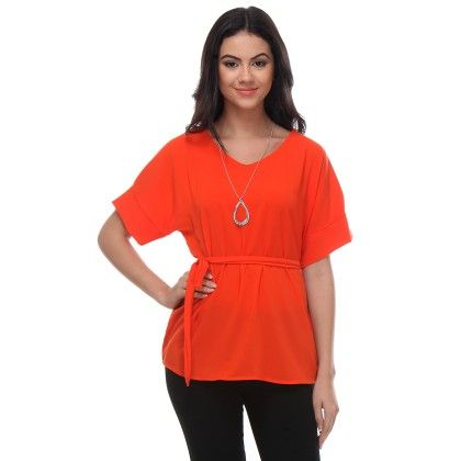 Orange Solid Tunic - Varanga
