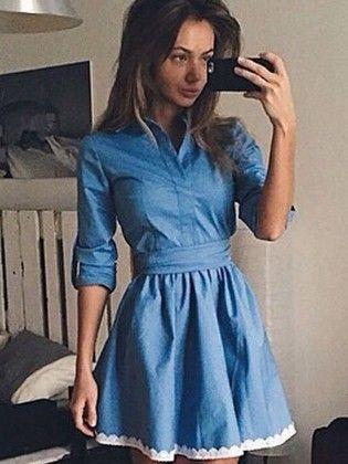 Woman Blue - Dress - Drape In Vogue