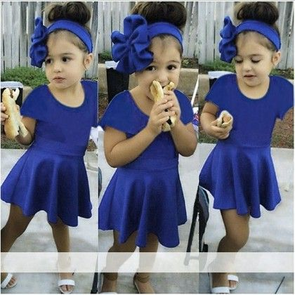 Cute Fitted Skirt Dress With Head Band - Kidsloft