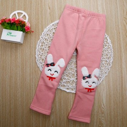 Cute Bunny Applique Legging - Light Pink - Jazzy Snazzy
