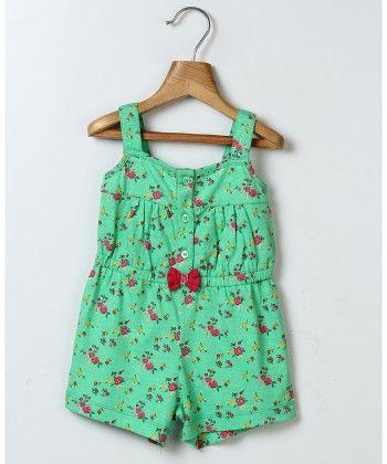 Ditsy Print Jumpsuit Green - Beebay