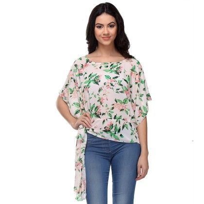 Multi-colour Side Knot Top - Varanga - 244458