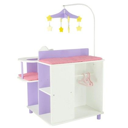 Little Princess 18inch Doll Furniture-baby Changing Station With Storage - Teamson Kids