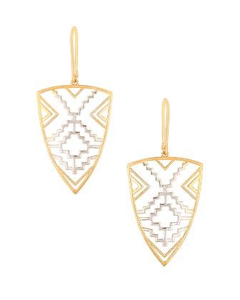 Voylla Trendy Dual Toned Dangler Pair Of Earrings