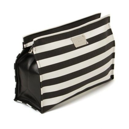 Cute Black And White Striped Pouch - Veribest