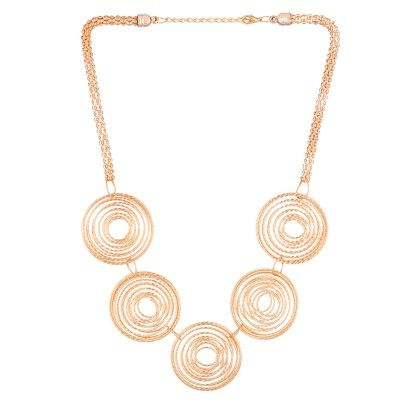 Alluring Gold Tone Necklace - Voylla