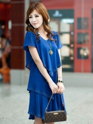 Short Sleeve Multilayer Dress - STUPA FASHION