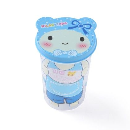 Unbreakable Glass With Lid- Blue Teddy - It's All About Me