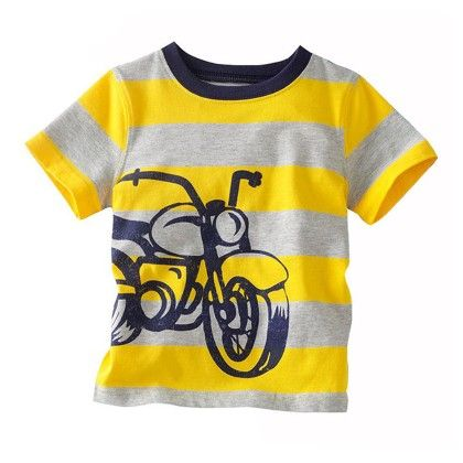 Yellow Bike Half Sleeves T-shirt - Lil Mantra
