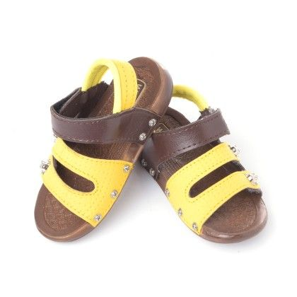 Yellow And Black Sandals - Pitter-patter