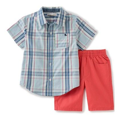 Checks Printed Shirt & Shorts - Kids Headquarters
