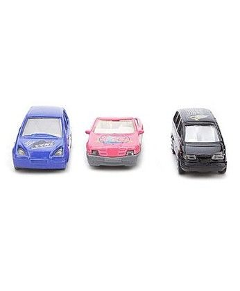 Playmate Toy Cars Set Of 3 - Blue Red Black