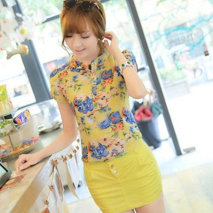 Yellow Chiffion Summer Top - STUPA FASHION