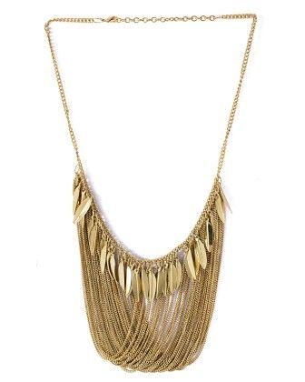 Voylla Splendid Gold Tone Necklace For Women