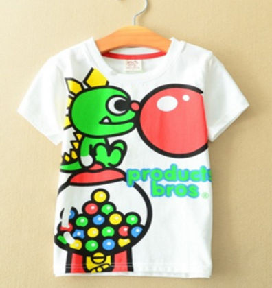 Cute Animal With Bubble Print White T-shirt - AILE BABY