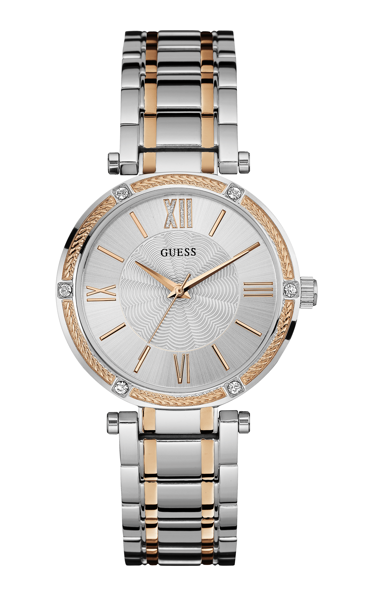 Guess Silver Tone-rose Gold Tone Park Ave Watch - Guess Watches