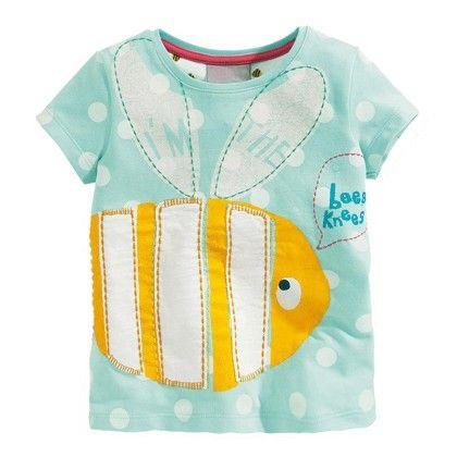 Sky Blue Fish Half Sleeves T-shirt - Lil Mantra